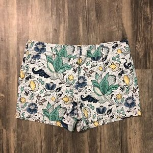 "NEW LOFT by Ann Taylor Floral 4"" Shorts Yellow"